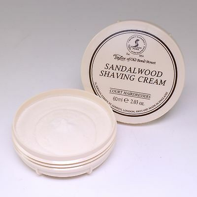 Sandalwood Luxury Shaving Cream Tub 60ml, Taylor of Old Bond St; Travel Size