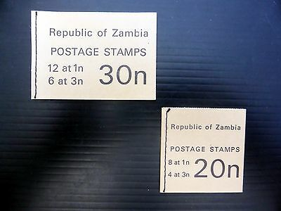 ZAMBIA 1968 Booklets (2) SGSB2/3 FP7887