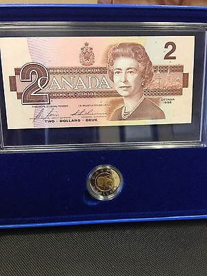 1996 $2 Proof Coin and Banknote Set of Canada