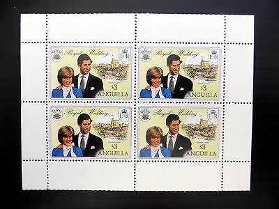 ANGUILLA 1981 Royal Wedding Booklet Pane Block Printed Twice SG469ab FP7899