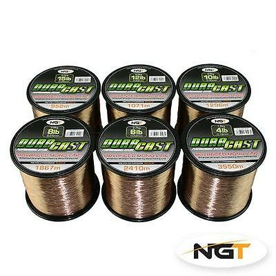 NGT DuraCast Bulk Spool Advanced Mono Line 4,6,8,10,12,15lb Carp Coarse Fishing