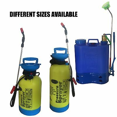 Pressure Sprayer 5L 8L 16L Fence Car Wash Garden Knapsack Weed Killer Paint