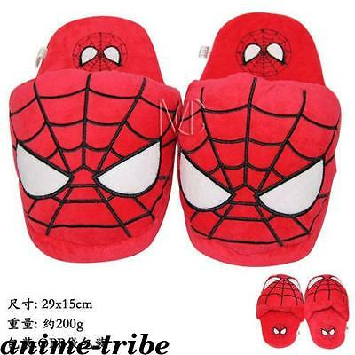 Marvel Comics Spider-Man Plush Slippers Shoes cosplay Indoor fluffy slipper