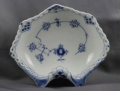 Royal Copenhagen Blue Fluted Full Lace Pickle Dish 1074