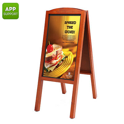"FULL HD 27"" WOODEN DISPLAY MENU RESTAURANT SIGN BOARD–ANDROID OS,iOS&ANDROID APP"