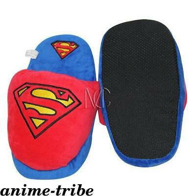 Detective Comics Superman Plush Slippers Shoes cosplay Indoor fluffy slipper