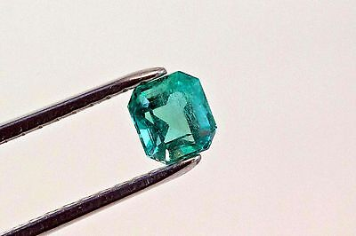 6mm 1.16 TCW Square Cut Natural Colombian Emerald Loose Gemstone