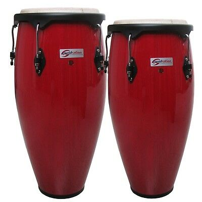 Coppia Congas Soundsation  Sco10-Rd 10 +11″  Rosse  Hw-Bk