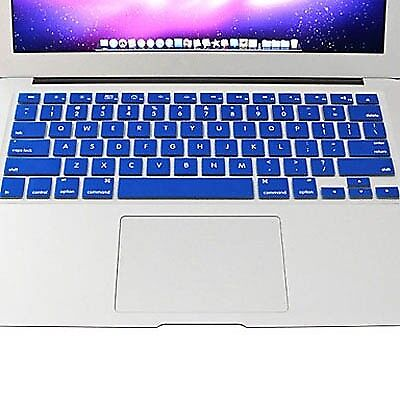 TECNICO Blue ENKAY Colorful Soft Silicon Keyboard Protector Cover Skin for MacB