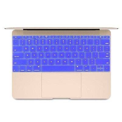 ELETTRONICA Dark Blue Soft 12 inch Silicone Keyboard Protective Cover Skin for