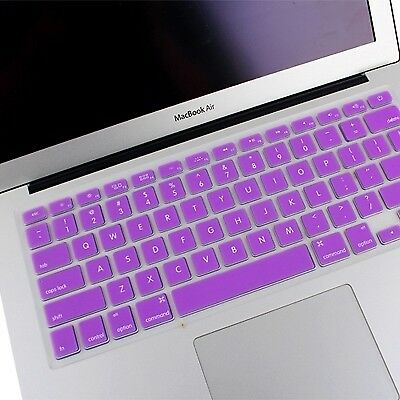 ELETTRONICA Purple ENKAY Soft Silicone Keyboard Protector Cover Skin for MacBoo
