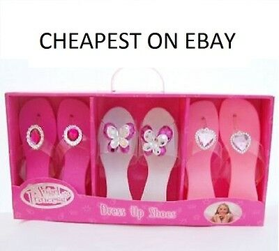 New Girls Dress Up Shoes 3 Pairs Angel Princess shoes New Birthday/XMAS Present