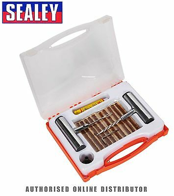 Sealey TST10 - Temporary Tubeless Wheel Tyre Puncture Emergency Repair Fix Kit