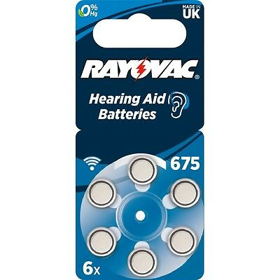 Rayovac Acoustic Special Mercury-Free Size 675 Hearing Aid Batteries