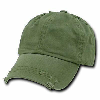 half off 7f323 c7041 Olive Green Vintage Distressed Weathered Torn Polo Baseball Cap Caps Hat  Hats