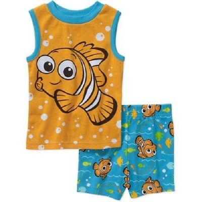 New! Disney/Pixar Finding Nemo ✭ Toddler Boys 2 Piece Pajama Set Size 4T,5T