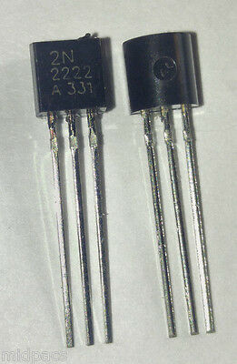 20Pcs 2N2222A 2N2222 2222 NPN Transistor TO-92 US Seller