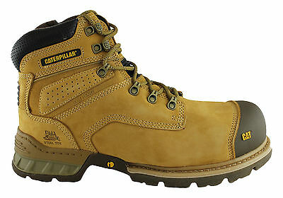 Caterpillar Cat Brakeman Mens Steel Toe Work/safety Boots/shoes With Side Zip!