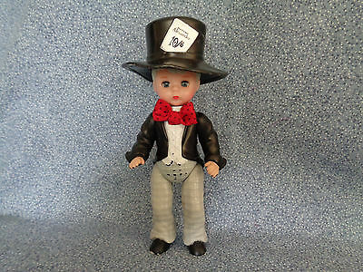 """McDonald's 2010 Madame Alexander Mad Hatter Doll Black Tuxedo Red Bow Tie 5"""""""