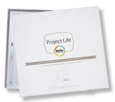 "Project Life Becky Higgins Pocket Page Protectors Bulk Lot 60 pages 12"" X 12"""