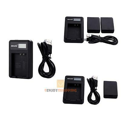 1250mAh LP-E10 LPE10 Battery+ Charger For Canon EOS Rebel T3 T5 1100D Kiss X50