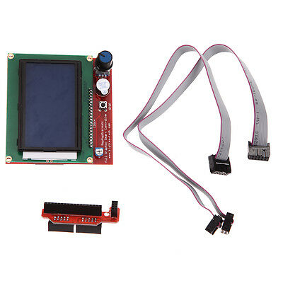 3D Printer Controller LCD 12864 with Adapter Cable for RAMPS 1.4 Reprap Mendel