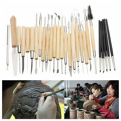 27Pcs Pottery Clay Sculpture Carving Modelling Pumpkin Party DIY Hobby Tool Sets