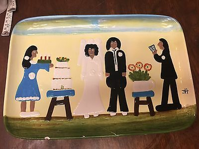 The Wedding By Clementine Hunter Collection Platter 2012