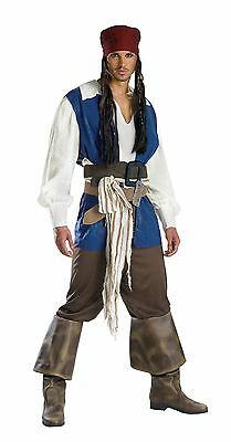 Halloween PIRATES OF THE CARRIBEAN JACK SPARROW QUALITY ADULT Men Costume