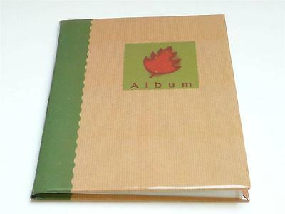 "Hofmann 18 Page 7"" x 5"" Slip In Photo Album Holds 36 Pictures - Brown Paper Look"