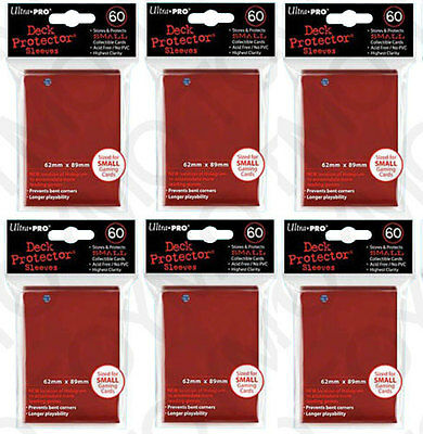 360 ULTRA-PRO Small Mini Size YuGiOh Card Sleeves Deck Protector 82967 Red 6pk