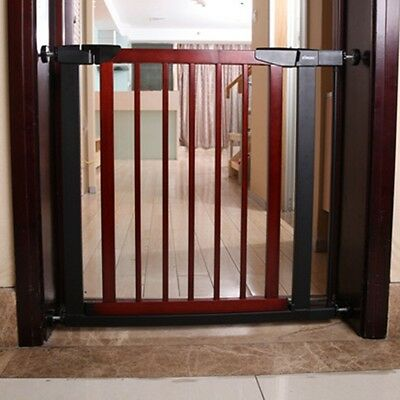 New Baby Safety Gate Wood Toddler Protector Pet Stairs Fence Door Extension Kits