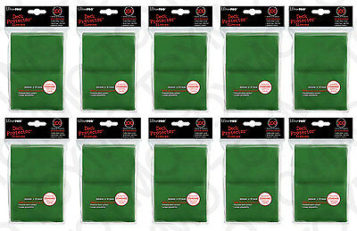 1000 10pk ULTRA PRO Card Sleeve Deck Protector MTG Magic Standard 82693 Green