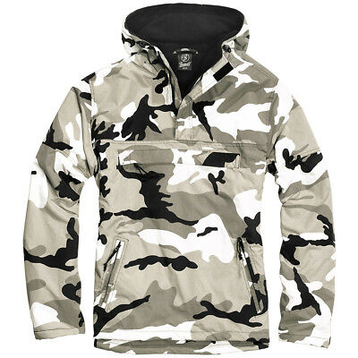 Brandit Military Windbreaker Tactical Hooded Anorak Mens Jacket Urban Camouflage