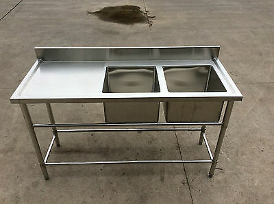 Brand New Double Bowl Sink 1500 x 600 x 900 + 100mm (Only left hand sink)