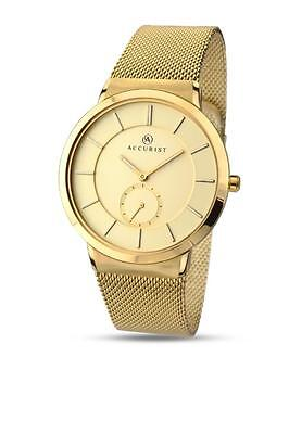 Accurist 7015 Men's Classic Minimal Gold Plated Stainless Steel watch RRP £90