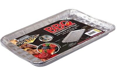 Disposable BBQ Grill Foil Trays Cook Heat Aluminium Oven Safe  - 10 or 20 Trays