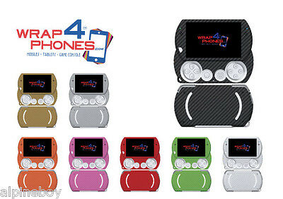 3D Textured Carbon Skin Cover Sticker Decal Vinyl Wrap Case For Sony PSP GO