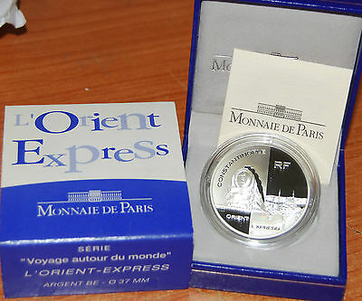 France 2003 Orient Express 1,5 euro Silver Proof -  silber argent 1/2 €  plata