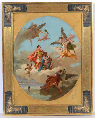 "G.B. Tiepolo-Follower (Venice, 19th century) ""Project for a plafond"""