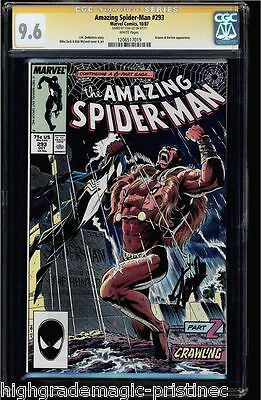 Amazing Spider-Man #293 Cgc 9.6 White Ss Stan Lee Signed #1206517019