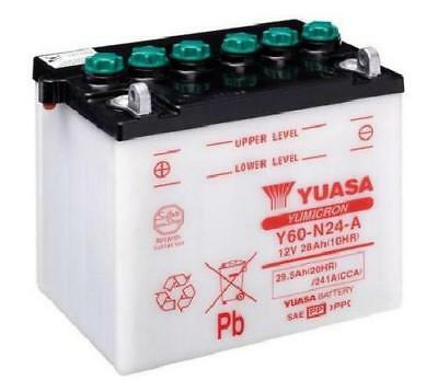Yuasa Y60-N24-A Motorcycle Battery Supplied With Acid Pack Genuine