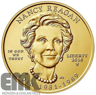 USA - 10 Dollar 2016 - Nancy Reagan - 1/2 Oz. Gold in Stempelglanz