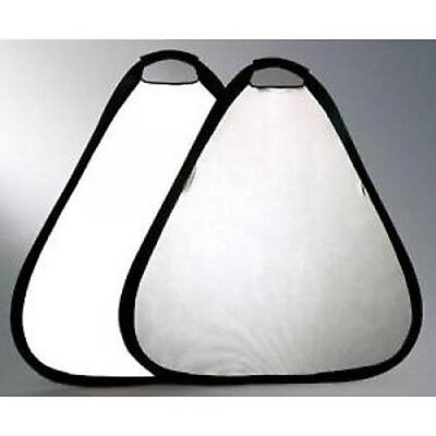 80cm 2 in 1 silver & white reflector with handle + case