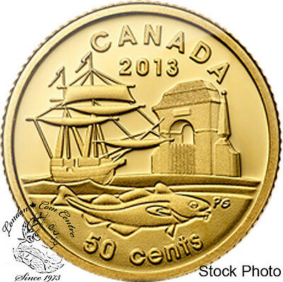 Canada 2013 50 Cents 300th Anniversary of Louisbourg 1/25 Gold Coin