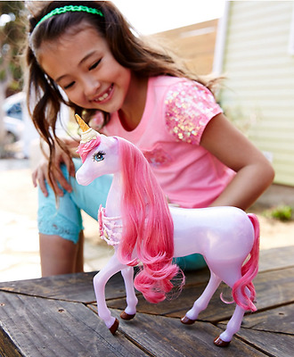 Barbie Long Hair Unicorn + Plug And Play Features Pink Girls Toy Brand New UK