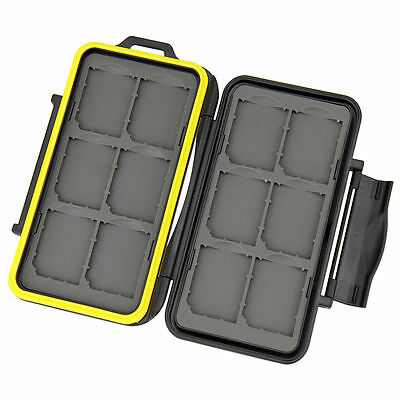 AUS STOCK - JJC MC-SD12 - 12 slot SD card holder HARD CASE SHOCKPROOF Heavy Duty