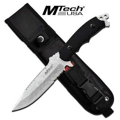 """MTech USA MT-20-55AE FIXED BLADE KNIFE 11"""" OVERALL ACID ETCHED NIB"""