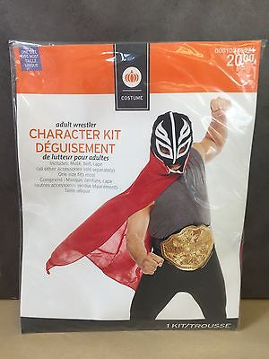NEW, Adult Wrestler Character Kit Halloween Costume One Size Fits Most