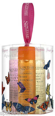 Sanctuary Spa SHOWER YOURSELF IN HAPPINESS Gift Box: 3 Body Wash Minis